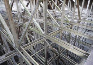 Kuehlturm Kraftwerk Untersuchung auf Holzschaeden Web